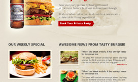 Wordpress Theme Tasty Burger Restaurant