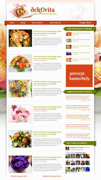 Wordpress Florist Blog Theme Design